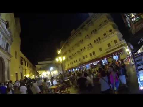 El centro de Cartagena, Colombia en Bici 2015