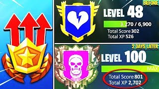 the FASTEST way to LEVEL UP in Fortnite! - Unlock Max Rank BEFORE the SEASON ENDS!
