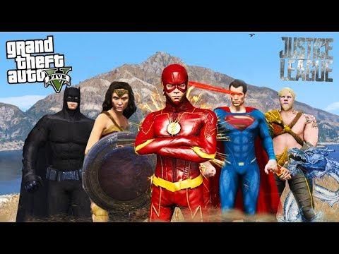 INCRIVEL - LIGA DA JUSTIÇA!!! (GTA 5 Mods)