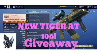 Fortnite:STW 106 Tiger Giveaway, check description !!!