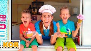 블라드와 니키, 엄마와 함께 카페 놀이 아이들을위한 컬렉션 영상