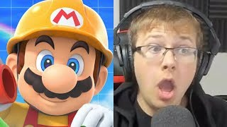 REACTING TO SUPER MARIO MAKER 2