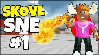REMOVE SNOW WITH FLAMETHROWER! -Danish Roblox: Snow Shoveling Simulator #1