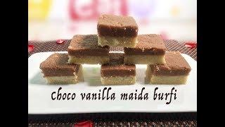 Choco vanilla maida burfi