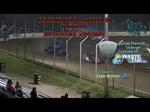 NASCAR Midwest Mods #1, Full Race, Humboldt Speedway, 04/12/19