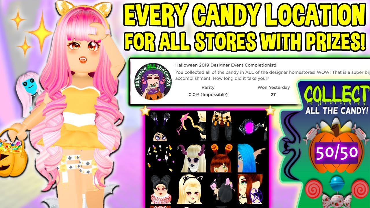 Girls Hair Extensions Candy Pink Roblox Every Candy Location For All Stores With Prizes Candy Hunt Guide For All 29 Accessories Roblox Youtube