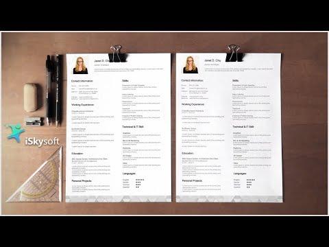 How To Make Resume/CV Design - PDFelement Pro