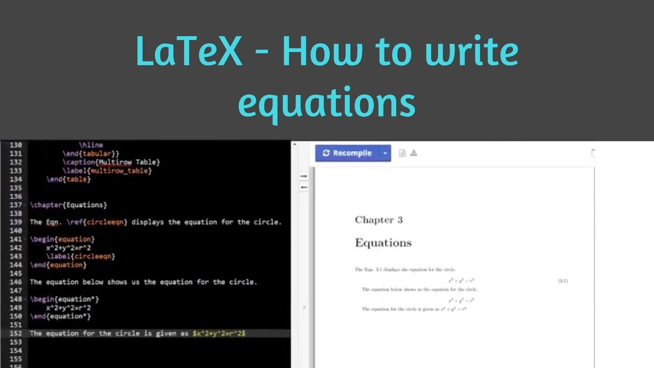 How to insert equations in LaTeX  Inserting mathematical formulae in LaTeX   Learn Latex 9