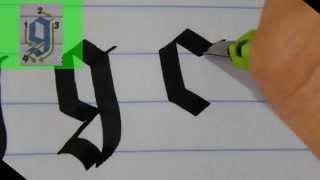 Pilot Parallel Pen prueba - GOTHIC Caligrafía (minúsculas)