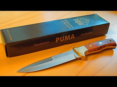 Puma Fighter Thuja Kampfmesser Solingen Germany Handmade Knife Bowie Sammler