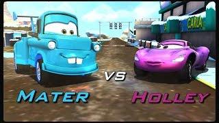 Disney Pixar Cars Fast as Lightning - Tokyo Mater vs Holley