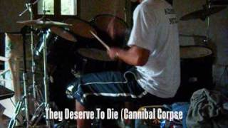 CANNIBAL CORPSE They Deserve To Die  -cover- (citalo) Another face drummer Thumbnail