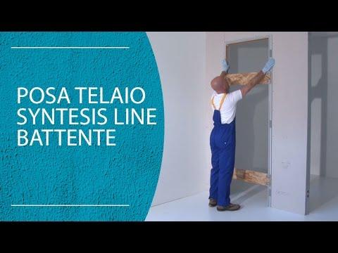Posare un telaio per porta a battente filomuro syntesis - Montare telaio porta ...