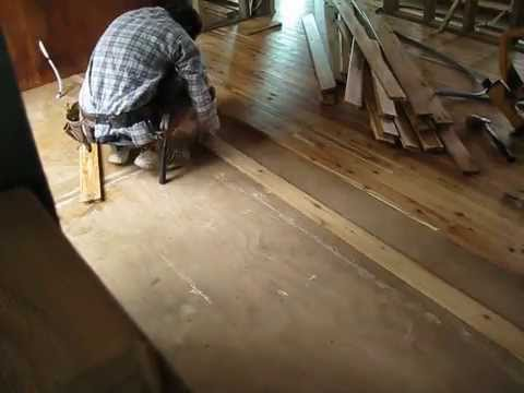 The haven day 84 laying cypress pine flooring youtube - Cypress floorboards ...