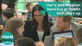Prince Harry and Meghan, Duchess of Sussex have fun at Dublin tech start-up