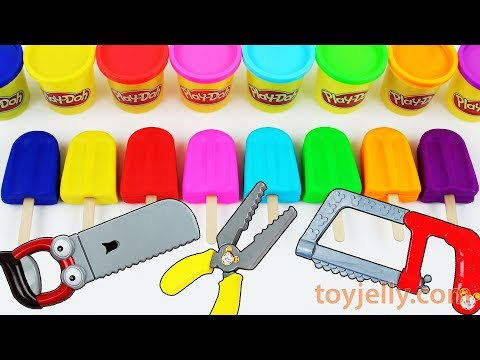 Learn Colors Play Doh Popsicle Ice Cream Molds Kinder Surprise Eggs Toys Baby Finger Song for Kids