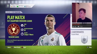 HERE WE GO AGAIN - RAGE TIME - FUT CHAMPIONS WEEKEND LEAGUE #26 p1 (FIFA 18) (LIVE STREAM)