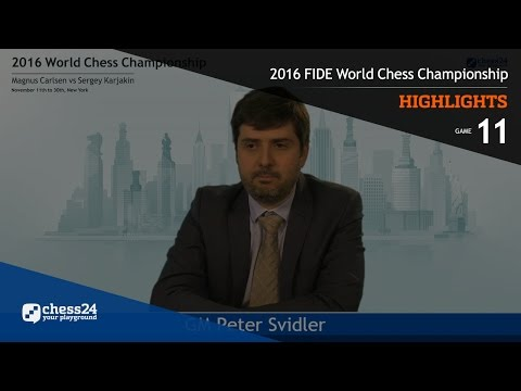 2016 FIDE World Chess Championship - Highlights - Game 11
