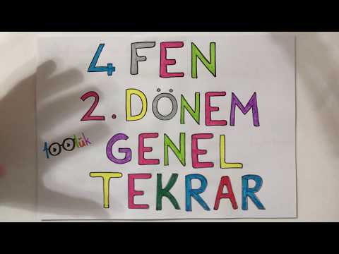4. Sınıf FEN 2. Dönem Konuları.. / GENEL TEKRAR