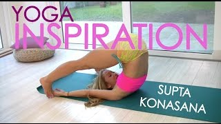 Repeat youtube video Ashtanga Yoga: Supta Konasana with Kino