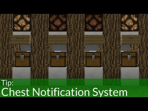 How To Build A Chest Notification System in Minecraft