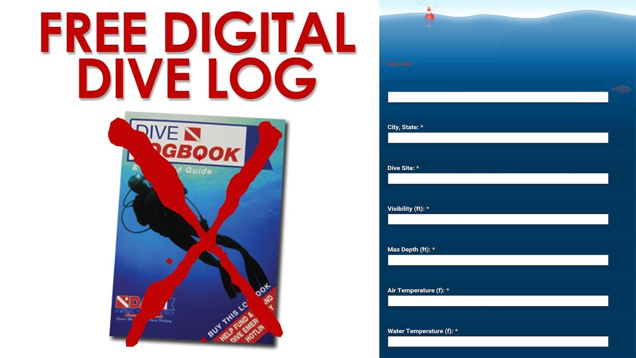 Free Digital Dive Log | Online Dive Log Tutorial - YouTube