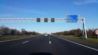 Dashcam Beelden Utrecht: A27 Knooppunt Rijnsweerd ----»Knooppunt Eemnes.