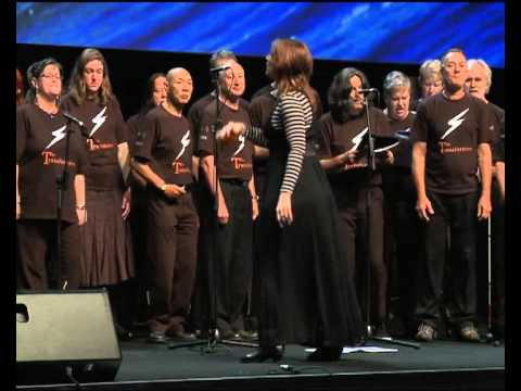 The Transformers choir at Happiness & Its Causes 2011