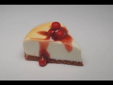 Cherry Cheesecake Tutorial, Miniature Food Tutorial, Polymer Clay Tutorial - 동영상