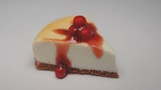 Cherry Cheesecake Tutorial, Miniature Food Tutorial, Polymer Clay Tutorial