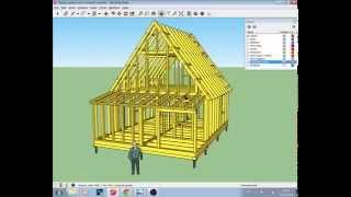 видео Строительство дома из бруса 6х7 с выносом 3 метра