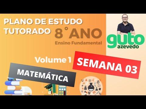 PET Volume 1 | 8º ano Fundamental | Semana 3 | Matemática | Correção das atividades | Guto Azevedo