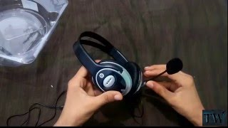 hp b4b09pa wired headset unboxing