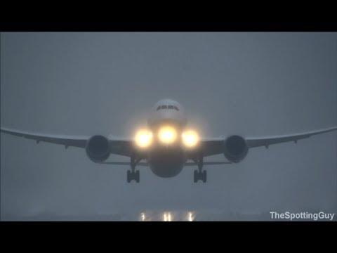 ANA Boeing 787 Dreamliner Bad Weather Departure @ Düsseldorf