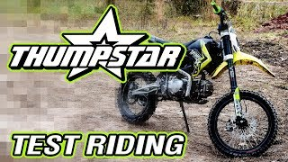 Thumpstar Pit Bike 140cc and 160cc Testing at GPMX!