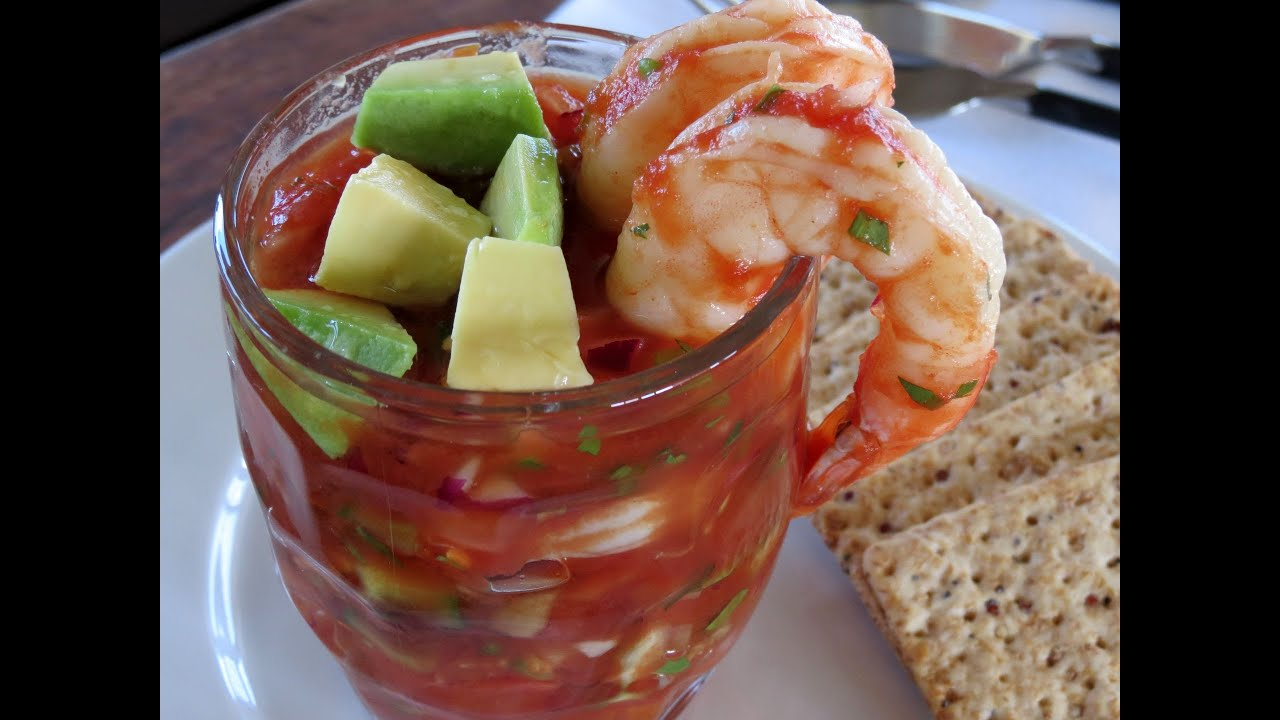 Mexican Shrimp Cocktail - The Frugal Chef - YouTube