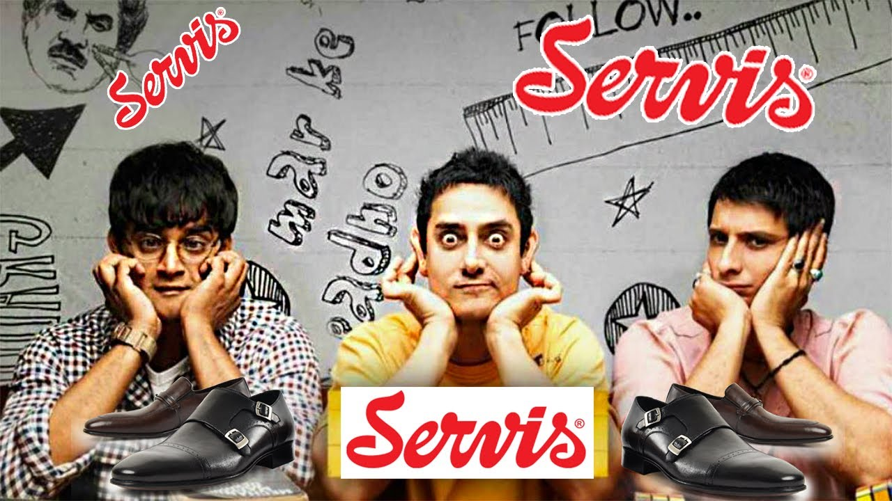 Servis shoes ad ft.3 idiots   Branded Memes