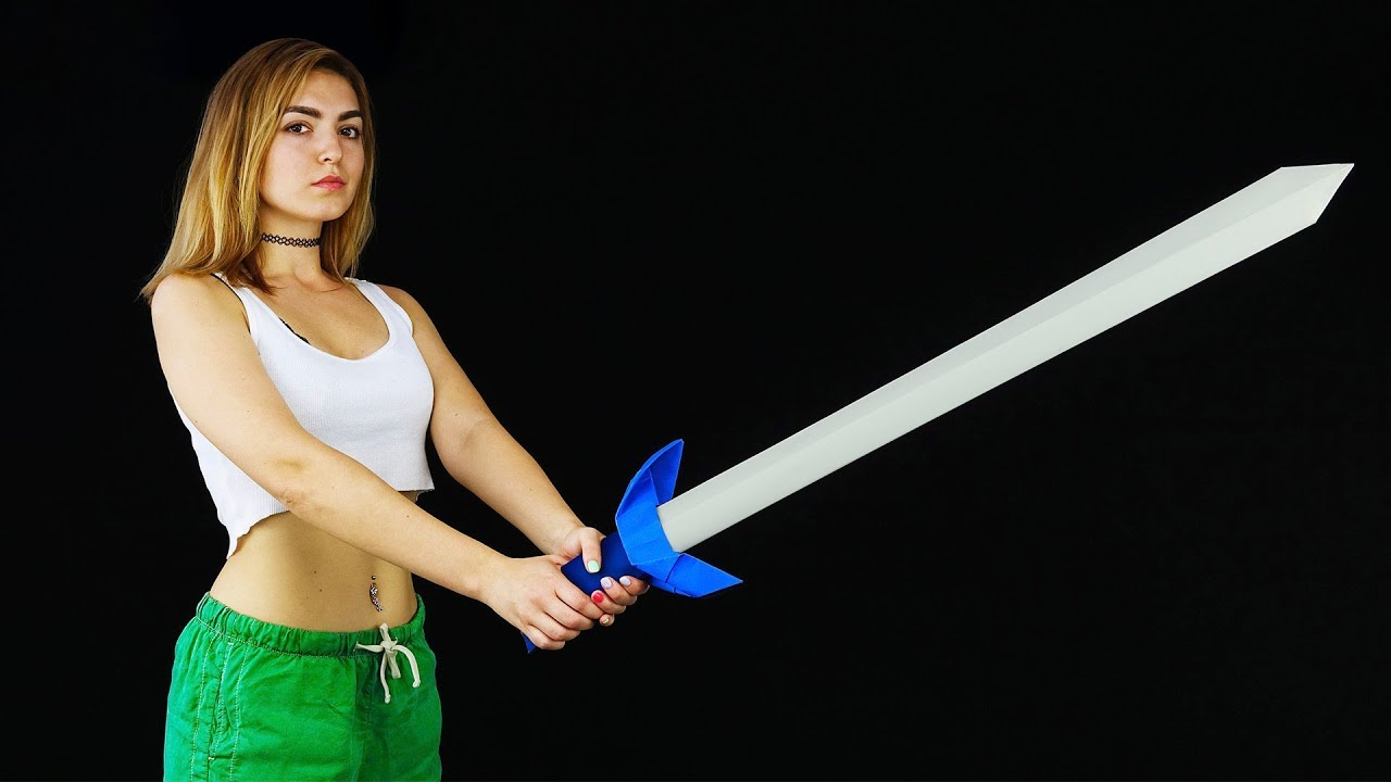DIY Paper Sword in a Full Size