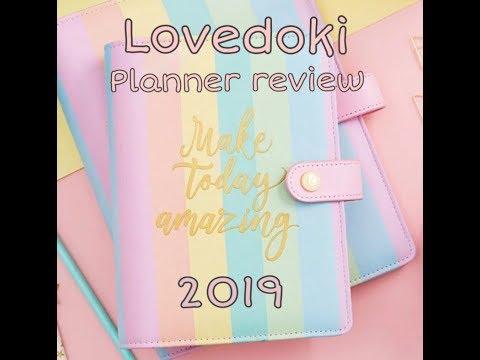 Lovedoki Rainbow 2019 Planner Review - Happy planner - Supplies