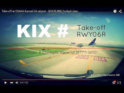 Take-off @ OSAKA - Kansaï Intl airport (KIX/RJBB) Japan # Cockpit view - RWY06R