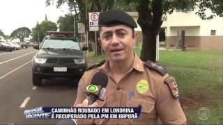 Baixar Caminhão roubado em Londrina é recuperado pela PM em Ibiporã