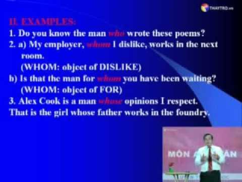 Bài 12.2: Đại từ quan hệ - The Relative Pronouns