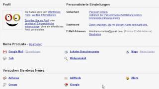 Reise durch die Google Mail-Einstellungen