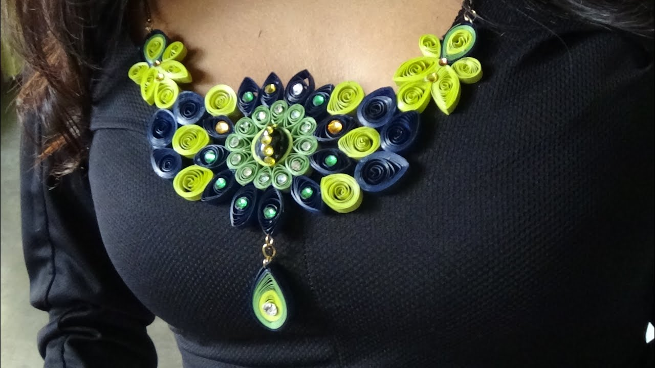 Quilling Necklace Design New 2016 Youtube