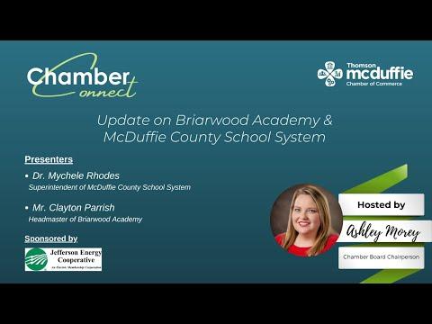 Briarwood Academy & McDuffie County School System Update