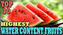 Top 10 Fruits With Highest Water Content || Amazing World