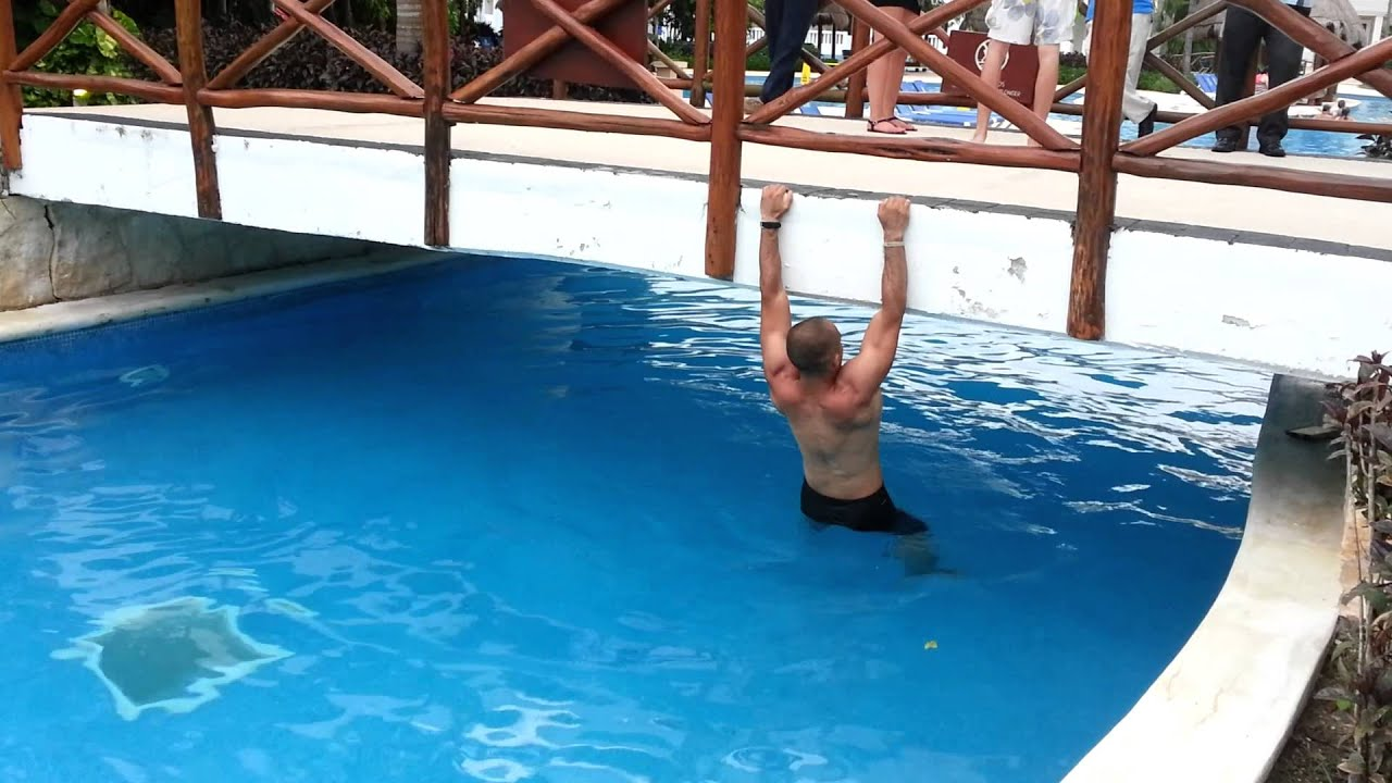 Climbing On Swimming Pool Bridge Youtube