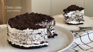 材料2つ?!チーズなし!ふわっととろけるオレオケーキ作り方 Oreo cake 오레오 케이크