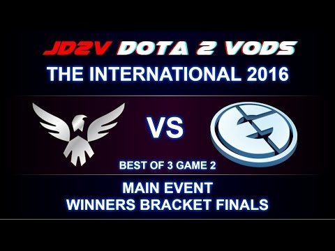 Wings vs EG TI6 The International 2016 Main event WB Finals Game 2 VOD DOTA 2