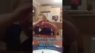 """There's no house anymore!"" 2 year old singing preschool song funny @fun_with_flynn"